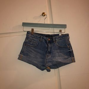 Denim Mini Shorts from the Kendall and Kylie